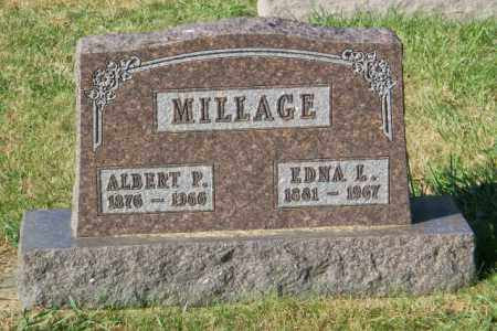 MILLAGE, ALBERT P. - Lincoln County, South Dakota | ALBERT P. MILLAGE - South Dakota Gravestone Photos