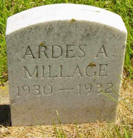MILLAGE, ARDES A - Lincoln County, South Dakota | ARDES A MILLAGE - South Dakota Gravestone Photos