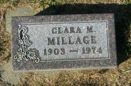 MILLAGE, CLARA M. - Lincoln County, South Dakota   CLARA M. MILLAGE - South Dakota Gravestone Photos