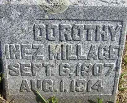 MILLAGE, DOROTHY INEZ - Lincoln County, South Dakota   DOROTHY INEZ MILLAGE - South Dakota Gravestone Photos