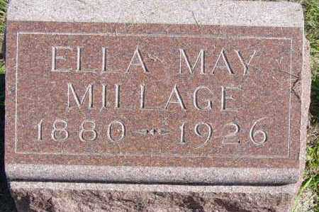MILLAGE, ELLA MAY - Lincoln County, South Dakota   ELLA MAY MILLAGE - South Dakota Gravestone Photos