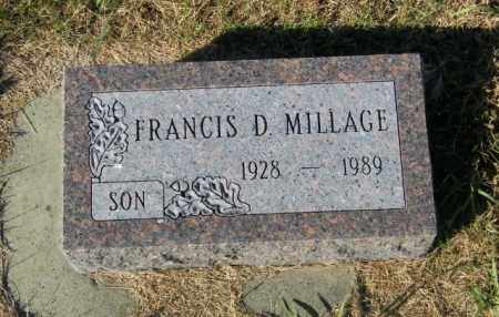 MILLAGE, FRANCIS D. - Lincoln County, South Dakota | FRANCIS D. MILLAGE - South Dakota Gravestone Photos