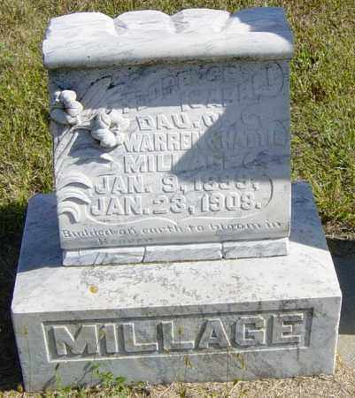 MILLAGE, FLORENCE ISABELL - Lincoln County, South Dakota | FLORENCE ISABELL MILLAGE - South Dakota Gravestone Photos
