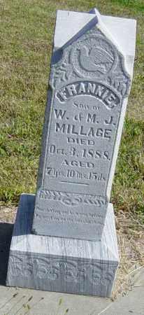 MILLAGE, FRANKIE - Lincoln County, South Dakota | FRANKIE MILLAGE - South Dakota Gravestone Photos