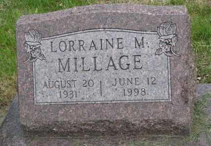 MILLAGE, LORRAINE M. - Lincoln County, South Dakota | LORRAINE M. MILLAGE - South Dakota Gravestone Photos