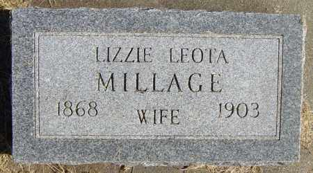 MILLAGE, LIZZIE LEOTA - Lincoln County, South Dakota   LIZZIE LEOTA MILLAGE - South Dakota Gravestone Photos
