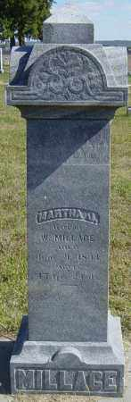 MILLAGE, MARTHA J - Lincoln County, South Dakota | MARTHA J MILLAGE - South Dakota Gravestone Photos