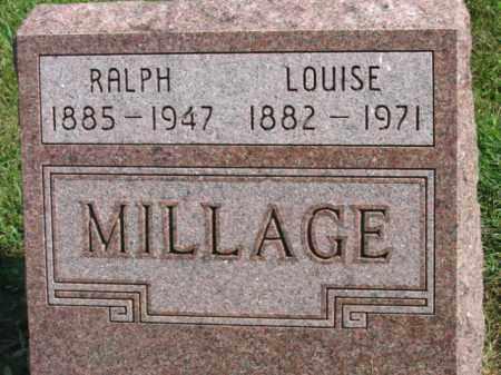 MILLAGE, RALPH - Lincoln County, South Dakota | RALPH MILLAGE - South Dakota Gravestone Photos