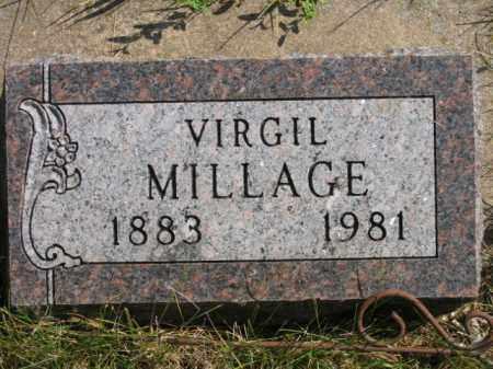 MILLAGE, VIRGIL - Lincoln County, South Dakota   VIRGIL MILLAGE - South Dakota Gravestone Photos