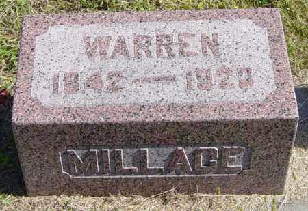 MILLAGE, WARREN - Lincoln County, South Dakota | WARREN MILLAGE - South Dakota Gravestone Photos