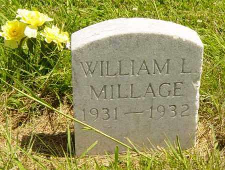 MILLAGE, WILLIAM L - Lincoln County, South Dakota | WILLIAM L MILLAGE - South Dakota Gravestone Photos