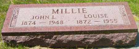 MILLIE, JOHN L - Lincoln County, South Dakota | JOHN L MILLIE - South Dakota Gravestone Photos