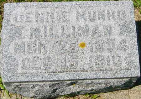 MUNRO MILLIMAN, JENNIE - Lincoln County, South Dakota | JENNIE MUNRO MILLIMAN - South Dakota Gravestone Photos