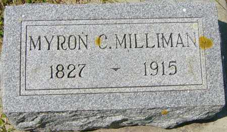 MILLIMAN, MYRON C - Lincoln County, South Dakota | MYRON C MILLIMAN - South Dakota Gravestone Photos