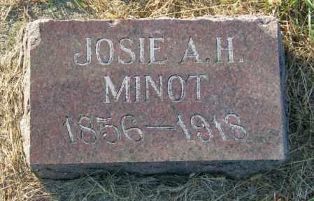 MINOT, JOSIE A.H. - Lincoln County, South Dakota   JOSIE A.H. MINOT - South Dakota Gravestone Photos