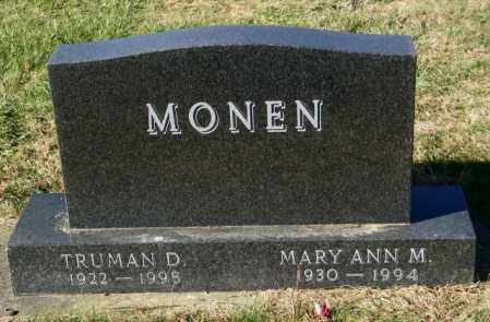 MONEN, TRUMAN D. - Lincoln County, South Dakota | TRUMAN D. MONEN - South Dakota Gravestone Photos