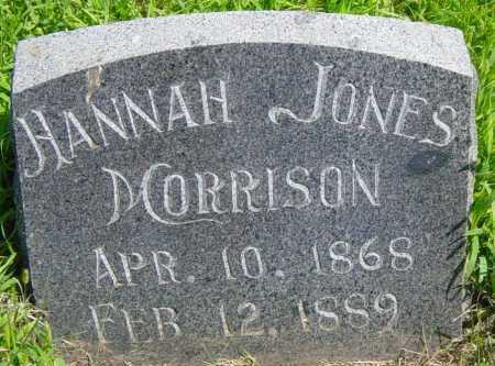 MORRISON, HANNAH - Lincoln County, South Dakota | HANNAH MORRISON - South Dakota Gravestone Photos