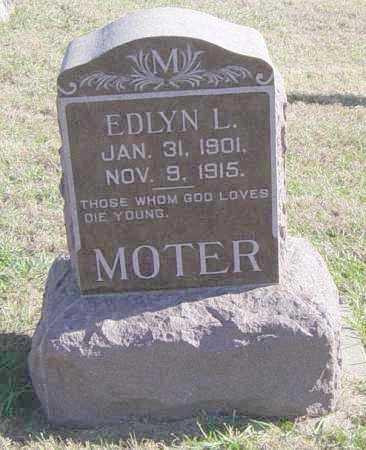 MOTER, EDLYN L - Lincoln County, South Dakota   EDLYN L MOTER - South Dakota Gravestone Photos