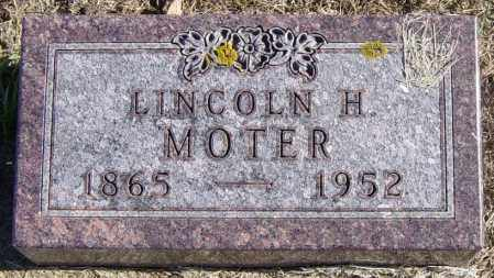 MOTER, LINCOLN H - Lincoln County, South Dakota   LINCOLN H MOTER - South Dakota Gravestone Photos