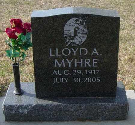 MYHRE, LLOYD A - Lincoln County, South Dakota   LLOYD A MYHRE - South Dakota Gravestone Photos