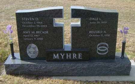MYHRE, BEVERLY A - Lincoln County, South Dakota | BEVERLY A MYHRE - South Dakota Gravestone Photos