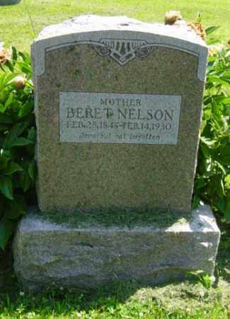 NELSON, BERET - Lincoln County, South Dakota | BERET NELSON - South Dakota Gravestone Photos
