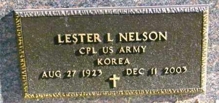 NELSON, LESTER L - Lincoln County, South Dakota   LESTER L NELSON - South Dakota Gravestone Photos
