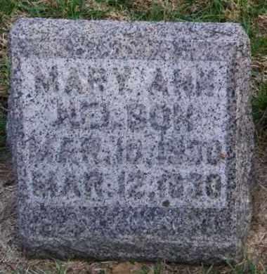 NELSON, MARY ANN - Lincoln County, South Dakota | MARY ANN NELSON - South Dakota Gravestone Photos