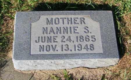 NELSON, NANNIE S. - Lincoln County, South Dakota | NANNIE S. NELSON - South Dakota Gravestone Photos