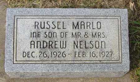 NELSON, RUSSEL MARLO - Lincoln County, South Dakota | RUSSEL MARLO NELSON - South Dakota Gravestone Photos