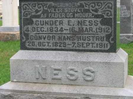 NESS, GUNDER E - Lincoln County, South Dakota | GUNDER E NESS - South Dakota Gravestone Photos