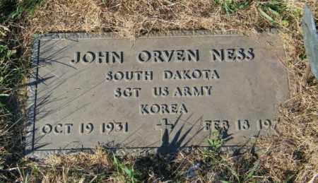 NESS, JOHN ORVEN - Lincoln County, South Dakota   JOHN ORVEN NESS - South Dakota Gravestone Photos