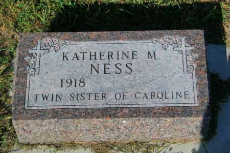 NESS, KATHERINE M - Lincoln County, South Dakota | KATHERINE M NESS - South Dakota Gravestone Photos