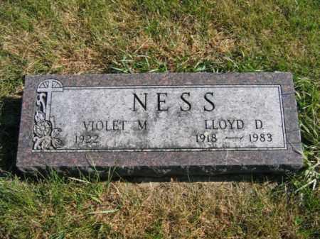 NESS, LLOYD D - Lincoln County, South Dakota   LLOYD D NESS - South Dakota Gravestone Photos
