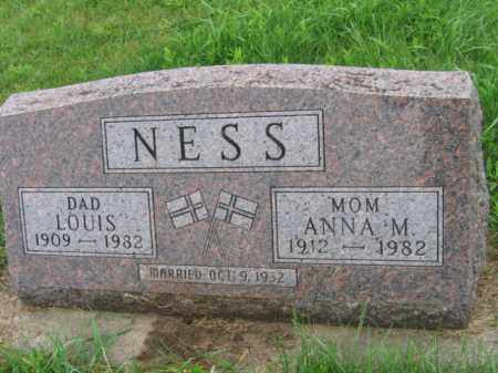NESS, ANNA A - Lincoln County, South Dakota | ANNA A NESS - South Dakota Gravestone Photos