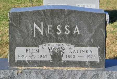 NESSA, ELEM - Lincoln County, South Dakota | ELEM NESSA - South Dakota Gravestone Photos
