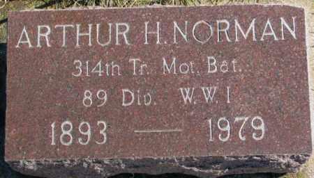 NORMAN, ARTHUR H. - Lincoln County, South Dakota | ARTHUR H. NORMAN - South Dakota Gravestone Photos
