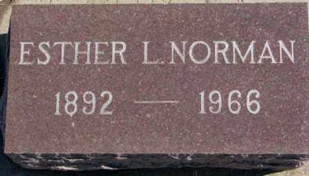NORMAN, ESTHER L. - Lincoln County, South Dakota | ESTHER L. NORMAN - South Dakota Gravestone Photos