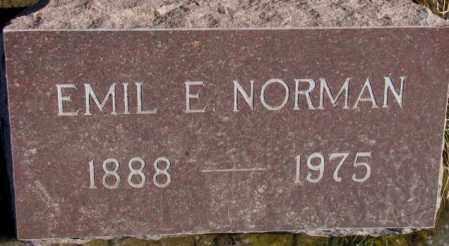 NORMAN, EMIL E. - Lincoln County, South Dakota | EMIL E. NORMAN - South Dakota Gravestone Photos