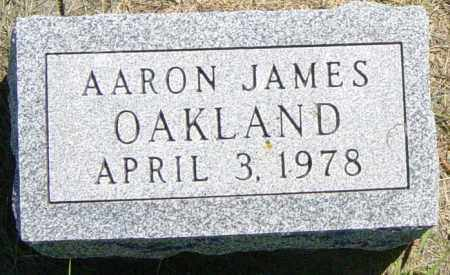 OAKLAND, AARON JAMES - Lincoln County, South Dakota | AARON JAMES OAKLAND - South Dakota Gravestone Photos