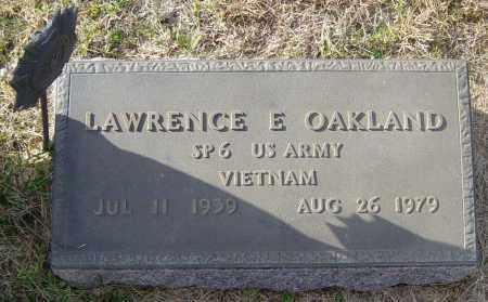 OAKLAND, LAWRENCE E - Lincoln County, South Dakota   LAWRENCE E OAKLAND - South Dakota Gravestone Photos