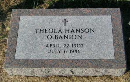 HANSON O'BANION, THEOLA - Lincoln County, South Dakota | THEOLA HANSON O'BANION - South Dakota Gravestone Photos