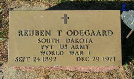 ODEGAARD, REUBEN T. - Lincoln County, South Dakota | REUBEN T. ODEGAARD - South Dakota Gravestone Photos