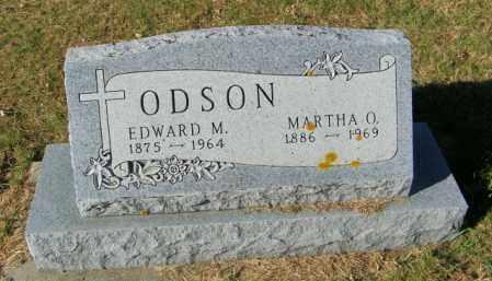 ODSON, EDWARD M. - Lincoln County, South Dakota | EDWARD M. ODSON - South Dakota Gravestone Photos