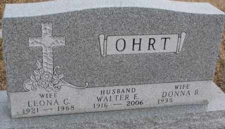 OHRT, WALTER EDWARD - Lincoln County, South Dakota   WALTER EDWARD OHRT - South Dakota Gravestone Photos