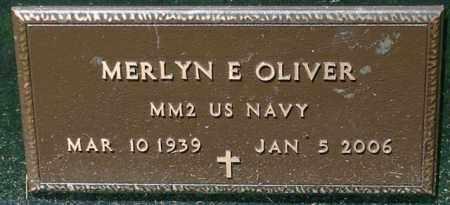 OLIVER, MERLYN E. - Lincoln County, South Dakota | MERLYN E. OLIVER - South Dakota Gravestone Photos