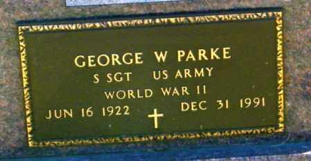 PARKE, GEORGE WILLARD - Lincoln County, South Dakota | GEORGE WILLARD PARKE - South Dakota Gravestone Photos