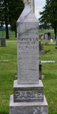 PARKE, HARRIET A. - Lincoln County, South Dakota | HARRIET A. PARKE - South Dakota Gravestone Photos