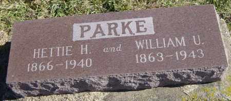 PARKE, WILLIAM U - Lincoln County, South Dakota | WILLIAM U PARKE - South Dakota Gravestone Photos