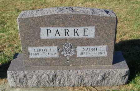 PARKE, NAOMI E. - Lincoln County, South Dakota | NAOMI E. PARKE - South Dakota Gravestone Photos